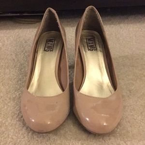 Round Toed Patent Blush Pumps